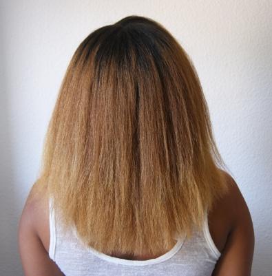 Brushing cheveux crépus